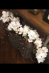 """Arriving Sept. 2017 MAGNOLIA GARLAND 48"""" WITH 12 GREEN FLOWERS [FF2323]"""