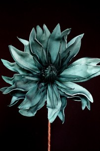 "TEAL FOAM FLOWER, 43""H x 13""D [FF2328]"