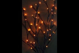 BATTERY OPERATED 60 LIGHT ORANGE WILLOW BRANCH 40 INCH