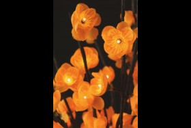 AMBER FLOWERS 60 LIGHT 20 INCH - BATTERY OPERATED
