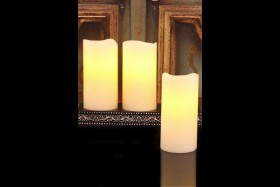 RECHARGABLE CANDLES WITH DESIGNER RECHARGING BASE