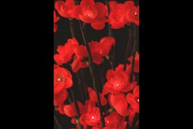 RED PLUM FLOWER 60 LIGHT 20 INCH - BATTERY OPERATED