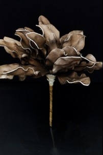 "10"" H x 10""D SHORT COFFEE FOAM FLOWER [FF1802-S]"