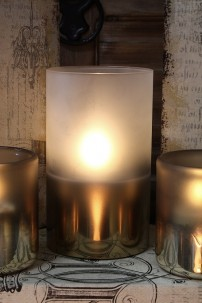 "PRE-ORDER 3.5x5"" METALLIC FROSTED RADIANCE POURED CANDLE [478278]"