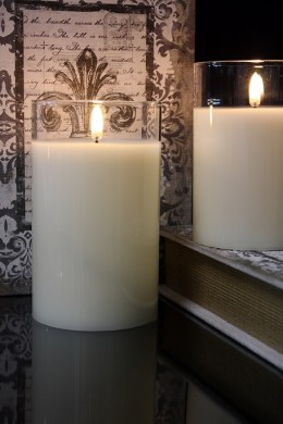 "PRE-ORDER 3.5x6"" SIMPLY IVORY RADIANCE POURED CANDLE [478274]"