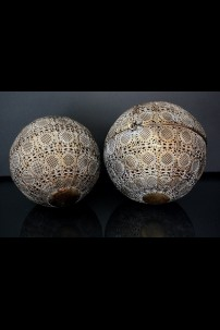 "Set of 2 Metal Decorative Balls (Nested) 9.50""x9.50""x9.50""H; 8.25""x8.25""x8.25""H (479348)"