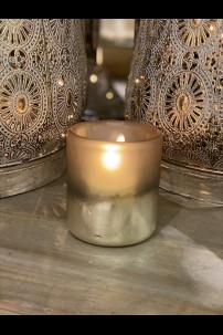 "2.5""D x 4""H CARA FROSTED BRONZE GLASS VOTIVE CUP [565375]"