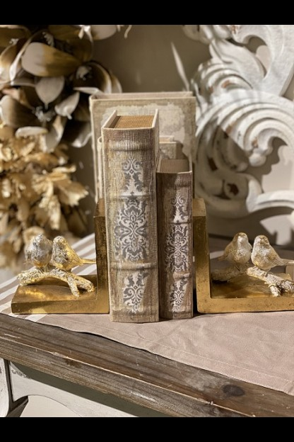 OUT OF STOCK SET OF 2 GOLDEN BIRD BOOKENDS [901357]