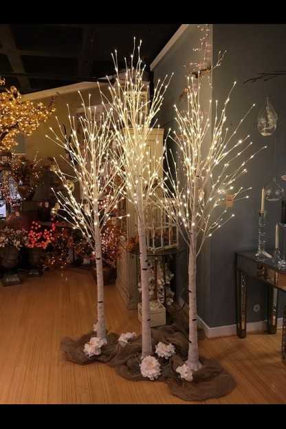 OUT OF STOCK  8' LED WHITE BIRCH TREE  [423001]