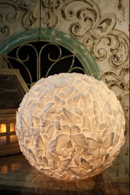 "14.5""W x 12.5""H LARGE BUTTERFLY BALL LAMP  [480663]"