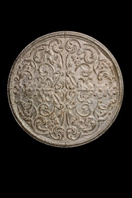 METAL WALL DECOR WITH EMBOSSED SCROLL WORK [489364]