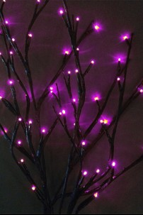 "Battery Operated 60 Light Purple Willow Branch 40"" [184102]"