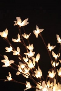 """White Forsythia 60 Light LED's 20"""" [184144]"""