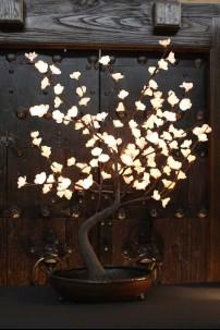 """White Bonsai Tree 128 Light LED 32"""" [184150]"""