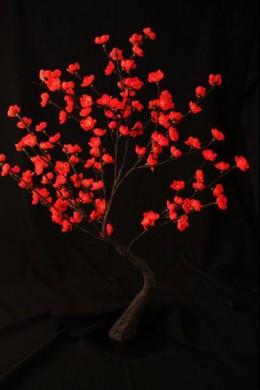 """Red Bonsai Tree 128 Light LED 32"""" [184151]"""