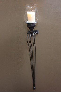 Metal Sconce with Glass [201115]