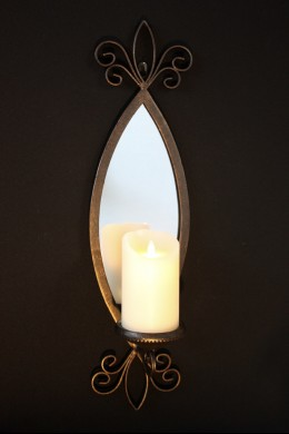 Metal Mirror Candle Sconce 25 Inch [201128]