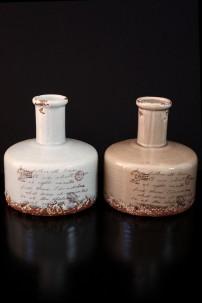 """Ceramic Vase 2 Assorted 7""""W, 7""""H [201233]"""
