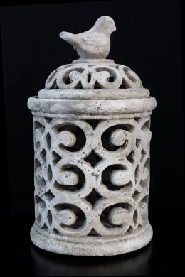 Ceramic Pierced Jar 14'H, 8'W [201237]