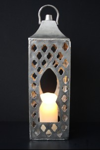 "Aluminum Lantern, Height 23"" [201257]"