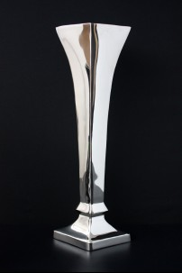 "Aluminum Nickle Flower Vase 25""H, 10""W [201261]"
