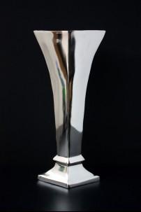 "Aluminum Nickle Flower Vase 19""H, 9""W [201262]"
