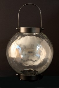 "Metal Glass Lantern 12""W, 12""H [201266]"