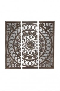 "Wood Mirror Wall Panel 72""W, 72""H [201324]"