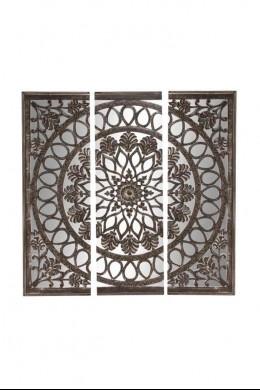 "Wood Mirror Wall Panel 72""W, 72""H [201324]"