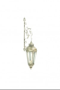 "Metal Glass Wall Lantern 12""W.50""H [201339]"