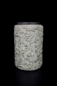 """Ceramic Vase 9""""W,15""""H [201343]"""