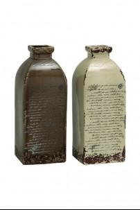 """Ceramic Vase (Set of 2) 6""""W, 15""""H [201353]"""