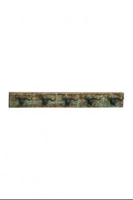 """Wood Metal Deer Wall Hook 43""""W, 5""""H [201364]"""