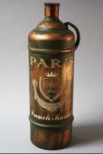 "Glass Metal Bottle Vase 6"", 20"" [201381]"