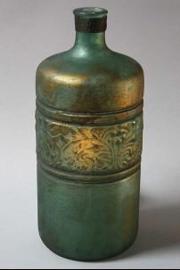 """Glass Metal Embossed Vase 6"""", 14"""" [201383]"""