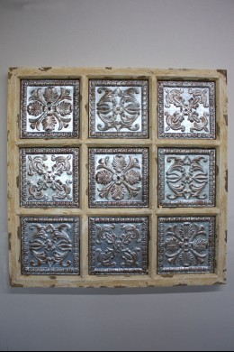 Metal Wood Wall Plaque 31 Inches x 31 Inches 201406