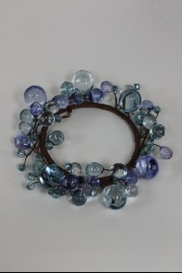 "Beaded Ring, Blue 4"" [220112]"