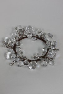 "Beaded Ring, Clear 3.5"" [220116]"