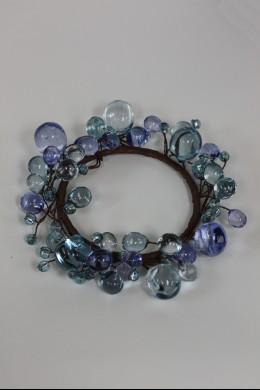"""Beaded Ring, Blue 3.5"""" [220118]"""