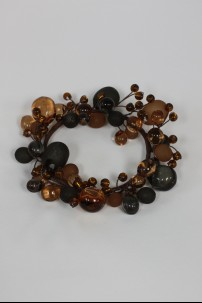 "Beaded Ring, Amber, Smoke, Frosted 3.5""  [220121]"