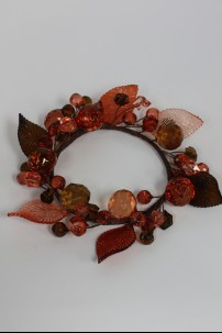 "Leaf Ring Rose, Amber 4"" [220124]"