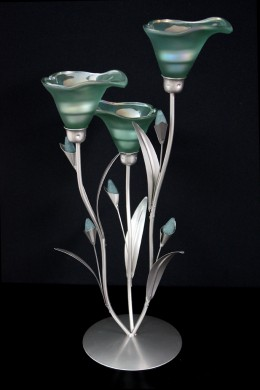 Teal Lily Votive 3 Count [230101]