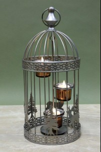 Winter Birdcage Small, 3 Count 230130