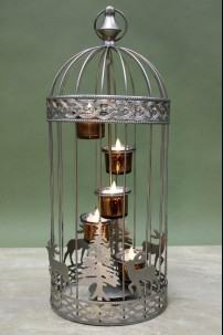 Winter Birdcage Large, 5 Count 230131