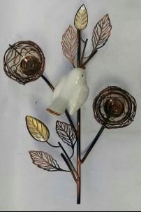 Brown Bird's Nest Votive 2 Count 230135