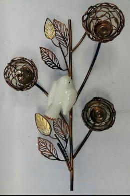 Brown Bird's Nest Votive 3 Count 230136