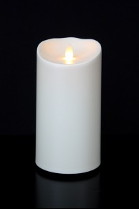 "OUTDOOR LUMINARA FLAMELESS CANDLE - 7""H x 3.75""DIA - BATTERY OPERATED WITH TIMER AND STANDARD PACKAGING [312104]"