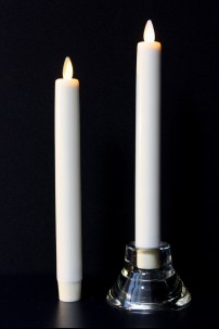 "LUMINARA FLAMELESS CANDLE TAPER CANDLE 8""H x 1""DIA (SET OF 2) [312309]"