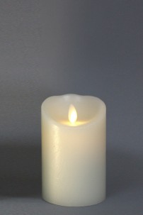 "LUMINARA FLAMELESS CANDLE 3""DIA x 4""H BATTERY OPERATED WITH TIMER AND BLACK PACKAGING [312314]"