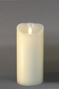 "LUMINARA FLAMELESS CANDLE 3""DIA x 6""H BATTERY OPERATED WITH TIMER AND BLACK PACKAGING [312316]"